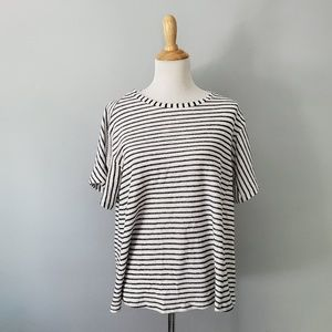 Pleione Striped Short Sleeve Top Size Small